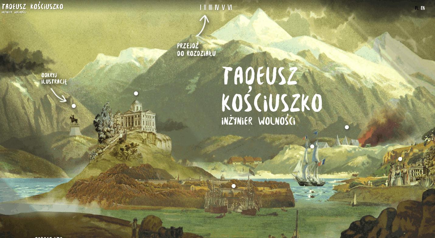 Narracyjna wystawa Tadeusza Kościuszko